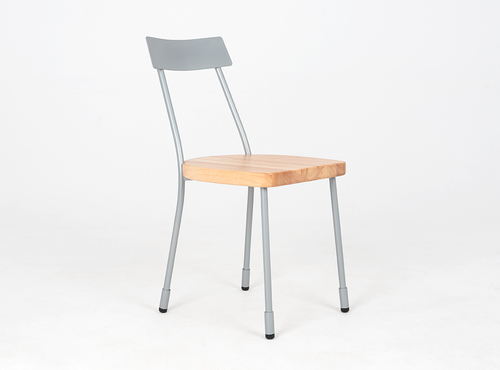 LENA chair - silver, natural