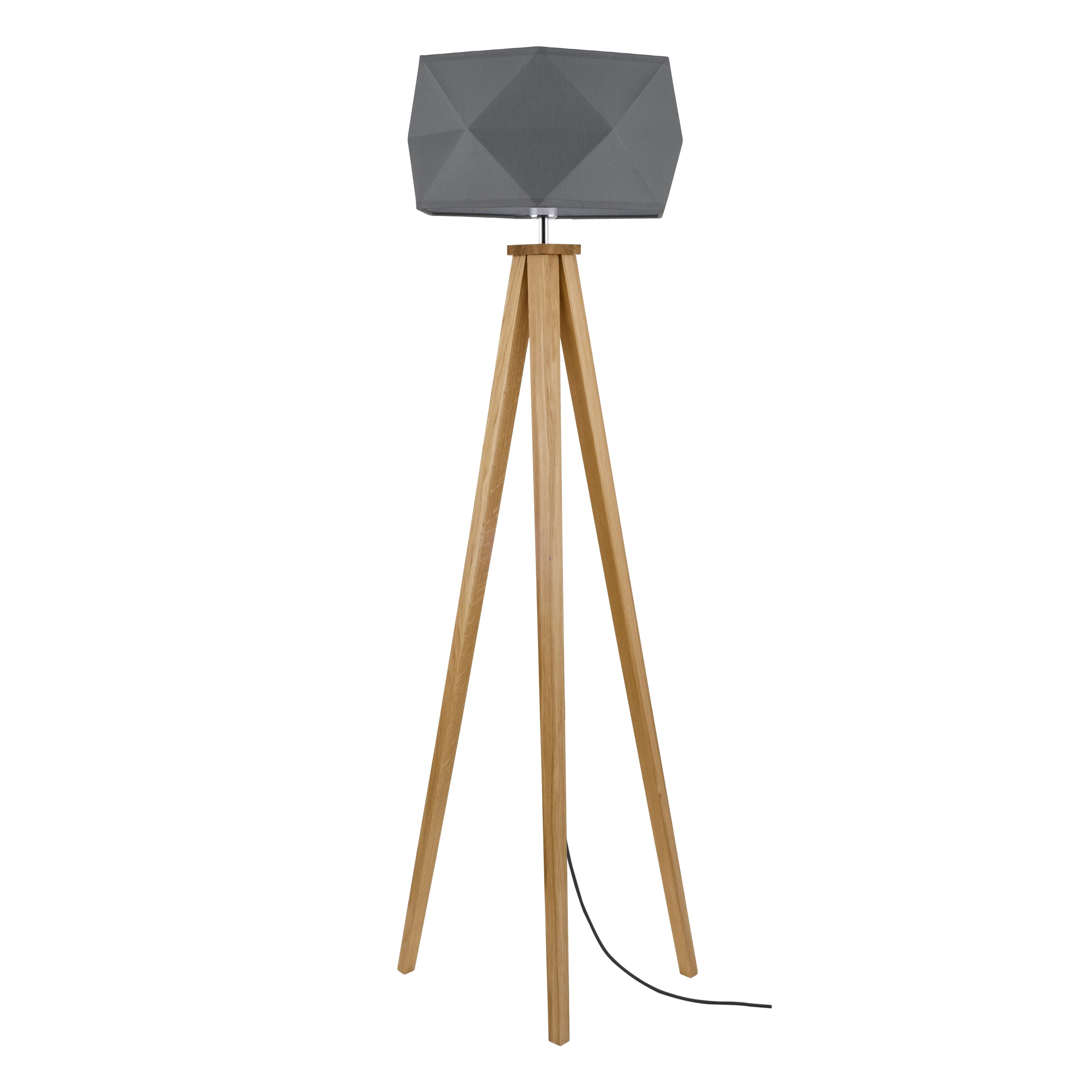 Floor lamp Finja dąb / anthracite / anthracite E27 60W