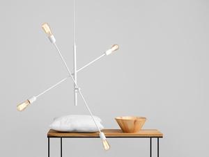 TWIGO 4 hanging lamp - white small 1