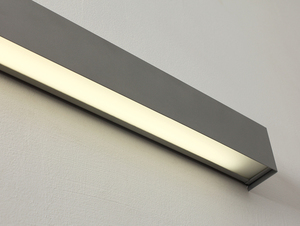 LINE WALL LED M wall lamp - silver small 3