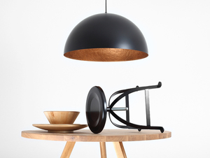 Hanging lamp LORD 70 - copper-black small 1