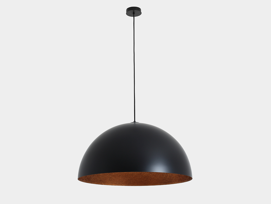 Hanging lamp LORD 70 - copper-black