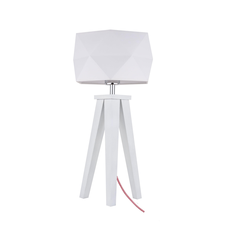 Table lamp Finja biała / czerwono-biały / white E27 60W