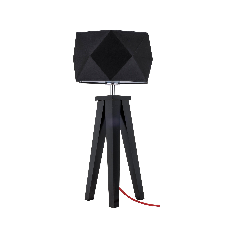 Table lamp Finja black / red / black E27 60W