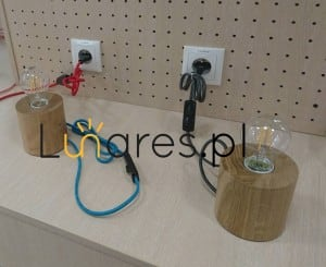 Table Lamp Trongo beech different colors of E27 60W cable small 6