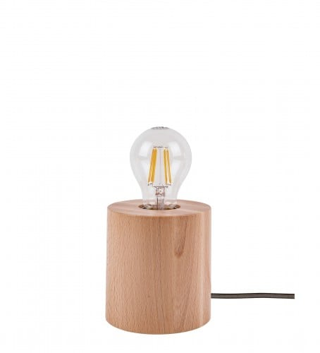 Table Lamp Trongo beech different colors of E27 60W cable