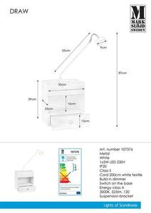 DRAW Wall lamp 1L White small 0