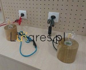Table lamp Trongo oak / anthracite E27 60W small 1
