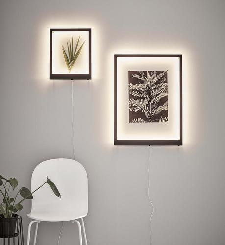 FRAME Wall sconce 70x50cm Black