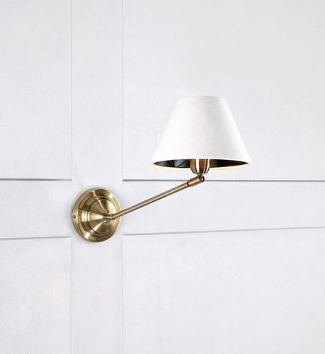 GARDA Wall lamp 1L Antique / White