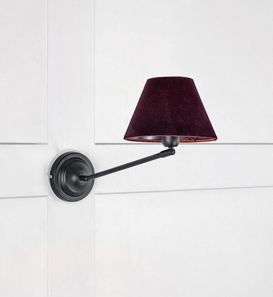 GARDA Wall lamp 1L Black / Purple