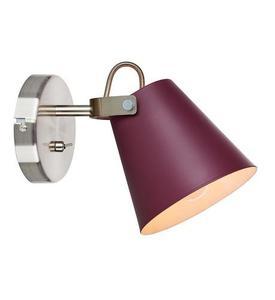 TRIBE Wall lamp 1L Burgundy / Steel small 2