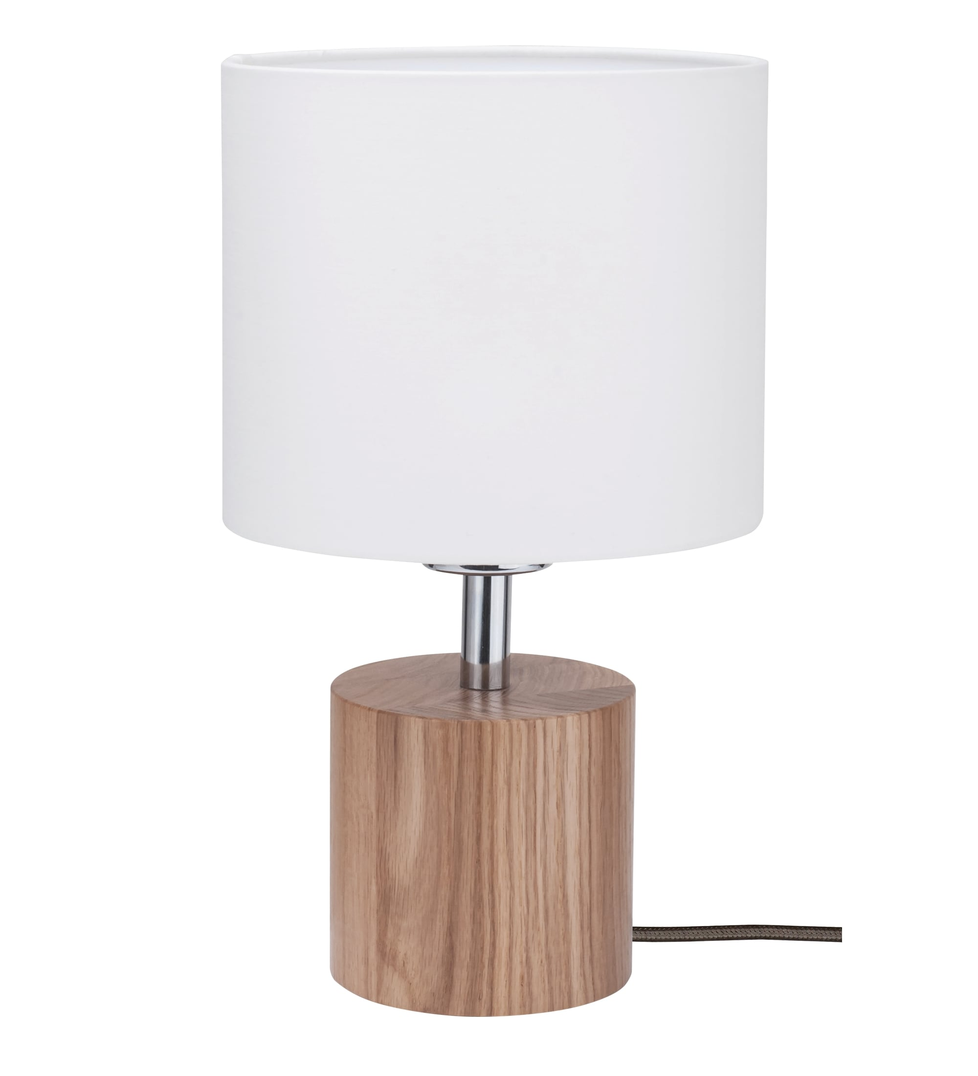 Table lamp Trongo oak different colors cable white E27 60W