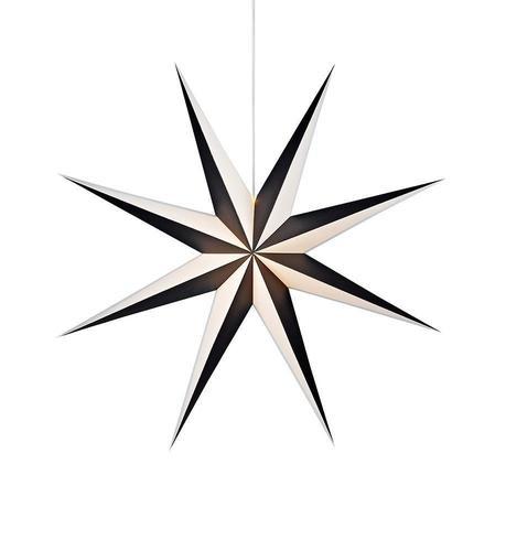 ALVA paper pendant star 75 Black White