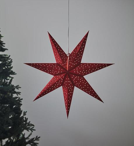 CLARA pendant Star 75 Red