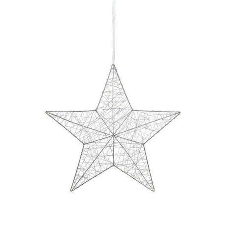 ARTHUR Star Pendant Silver 50cm