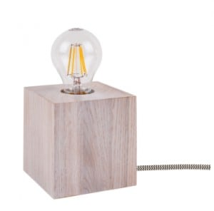 Table lamp Trongo bleached oak different colors of cable E27 60W small 2
