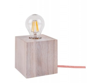 Table lamp Trongo bleached oak different colors of cable E27 60W small 5