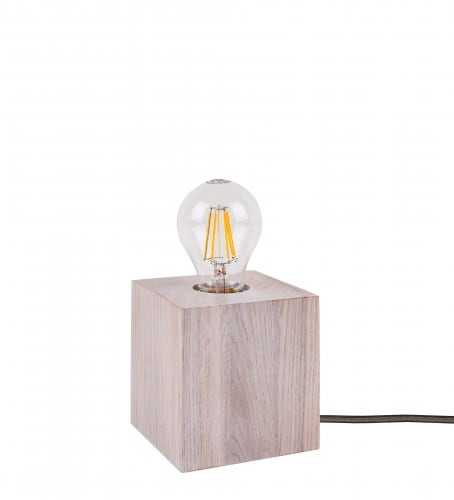 Table lamp Trongo bleached oak different colors of cable E27 60W
