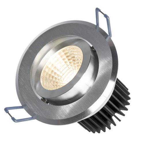 Wires II 6 W Cob 38 St 230 V Cw Led mesh Ring Brushed Aluminum