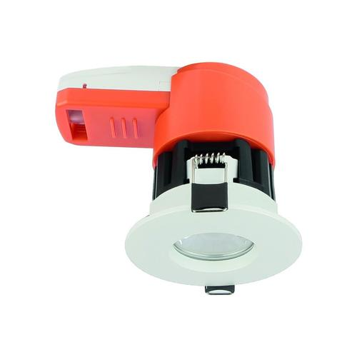 Ignis 8 W Cct Cw / Nw / Ww Ip65 Fire Rated White Ring