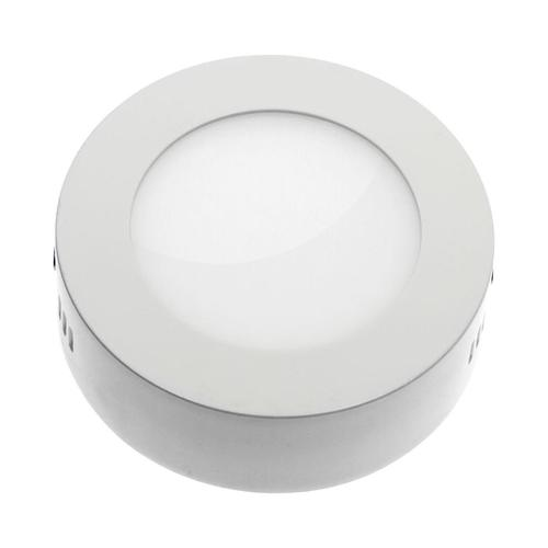 Algine Eco Led Round 230 V 6 W Ip20 Cw Ceiling WHITE Surface Frame