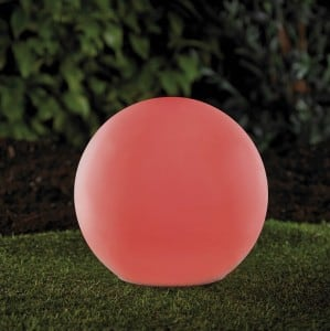 Solar garden ball and USB 34cm LED color, waterproof small 8