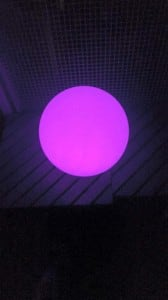 Solar garden ball and USB 34cm LED color, waterproof small 5