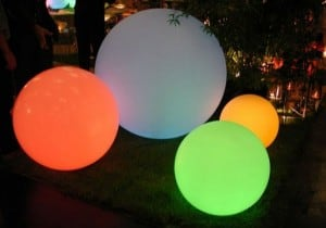 Solar garden ball and USB 34cm LED color, waterproof small 11