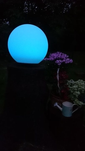 Solar garden ball and USB 34cm LED color, waterproof
