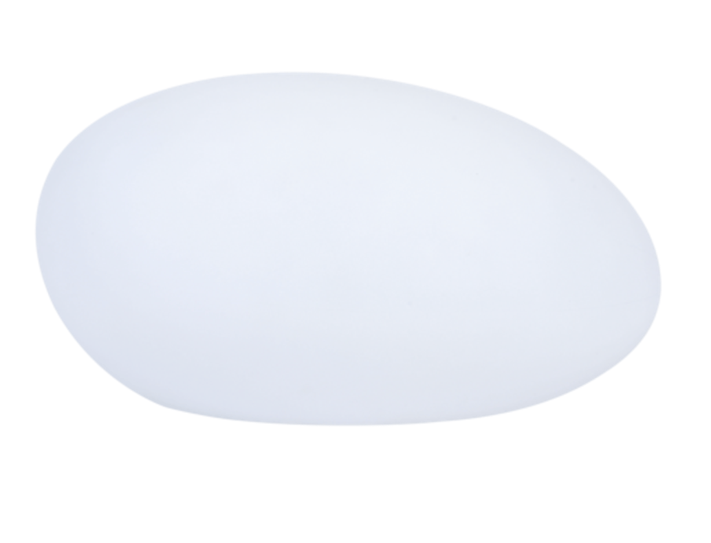 Solar lamp - Flattened sphere stone egg LED RGB colored