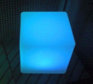 Waterproof Solar LED Cube Garden Lamp small 3
