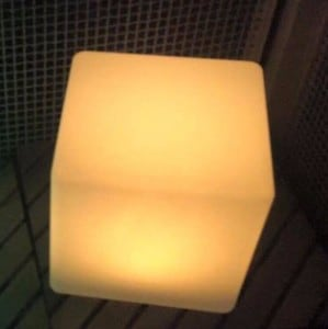 Waterproof Solar LED Cube Garden Lamp small 8