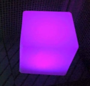 Waterproof Solar LED Cube Garden Lamp small 4
