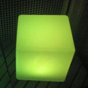 Waterproof Solar LED Cube Garden Lamp small 2
