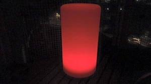 Waterproof column solar LED lamp with multicolour function for the garden (45 cm) small 2