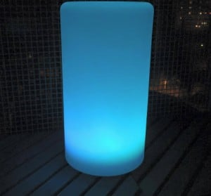 Waterproof column solar LED lamp with multicolour function for the garden (45 cm) small 5