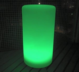 Waterproof column solar LED lamp with multicolour function for the garden (45 cm) small 6