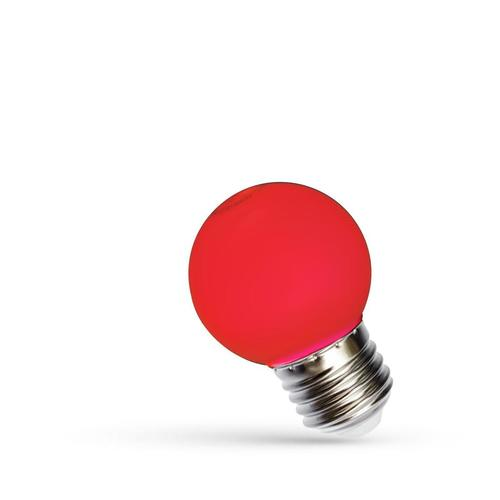 Led ball E 27 230 V 1 W Red Spectrum