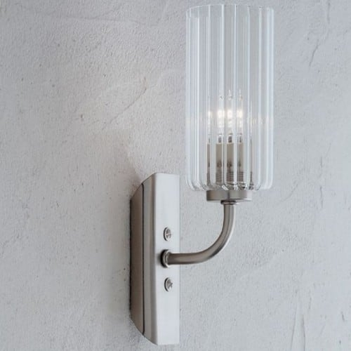 Crystal wall lamp Lucernia Arpa