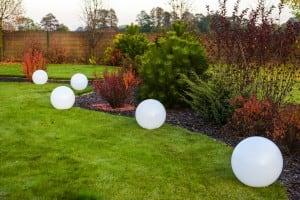 Bright garden ball 46 cm in diameter, 230V 23W small 1
