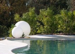 Bright garden ball 46 cm in diameter, 230V 23W small 2