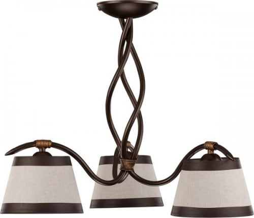 Hanging lamp Alba 3 Brown E27 3 x 60W