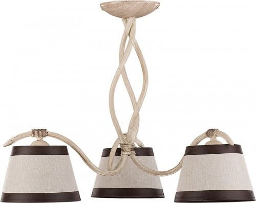 Hanging lamp Alba 3 Cream brown E27 3 x 60W
