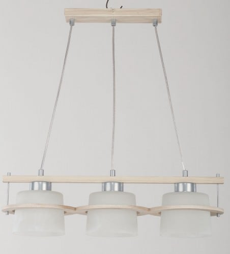 Hanging lamp Kors 3 Suspension Beige beige E27 3 x 60W