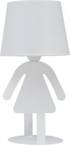 A white lamp for the girl's room