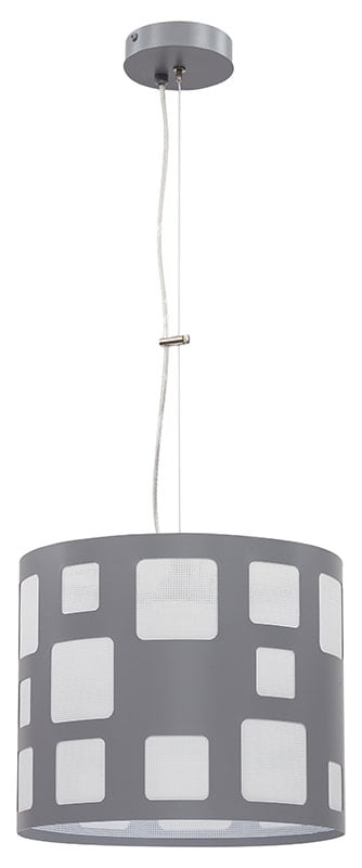 Hanging lamp Module Squares L Overhang Gray E27 1 x 60W