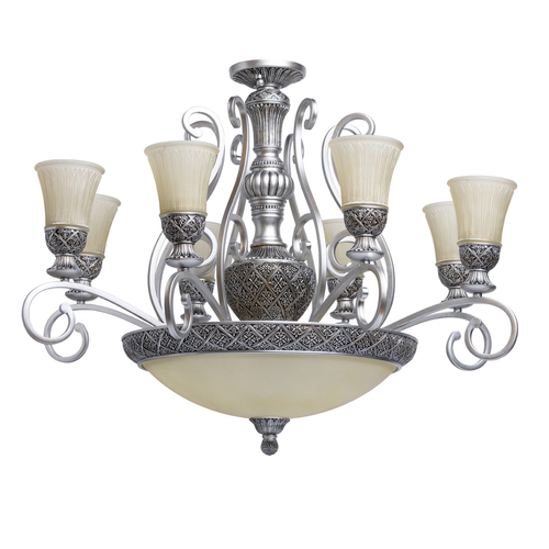 Hanging lamp Bologna Country 11 Silver - 254011512