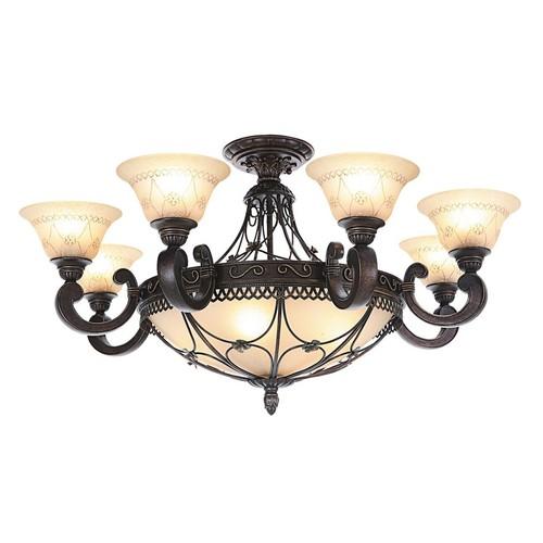 Hanging lamp Magdalena Country 12 Brown - 382012812