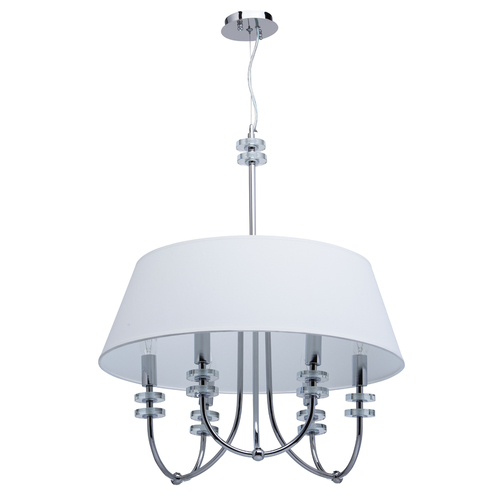 Pendant lamp Palermo Elegance 6 Chrome - 386010206